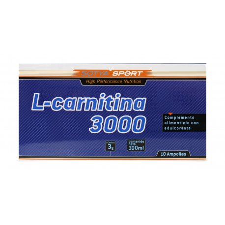 L-Carnitina 3000 mg 10 ampollas