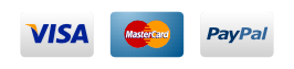 SSL Certificate. Paypal, Visa, American Express, Discover, Mastercard""